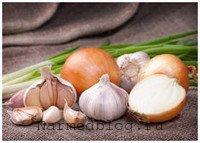При простуде помогут лук и чеснок